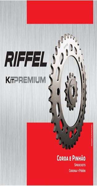 Kit de Transmissão Riffel Premium para moto Yamaha YBR FACTOR 125