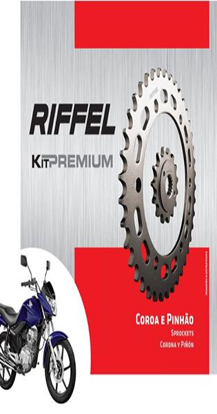 Kit de Transmissão Riffel Premium Titan 125