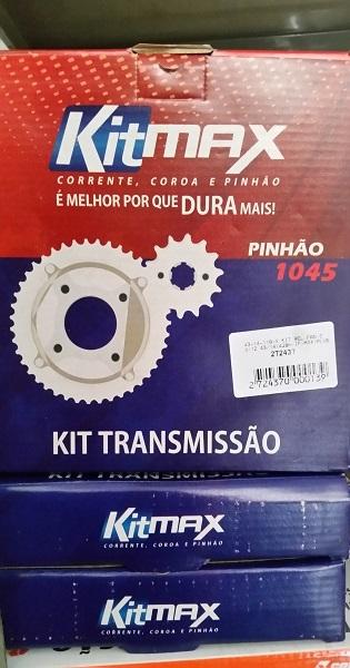 Kit Max Coroa, Pinhão e Corrente para Motos CG 125 BIS 125 e TITANS 150