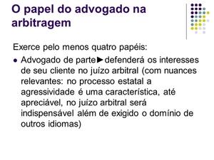 Arbitragem via Advogado