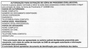 Cópia de Processo por Advogado