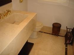 Bancada para Banheiro de Mármore