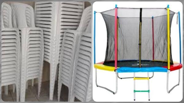 Aluguel de Pula Pula + 10 Jogos de Mesa e cadeiras